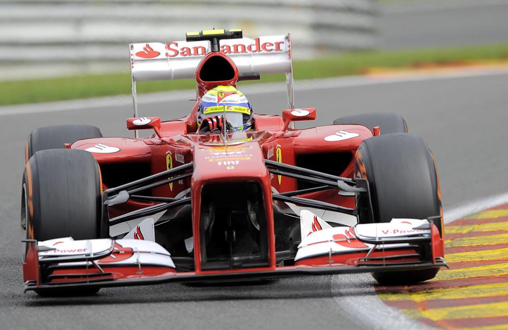 El piloto brasileño Felipe Massa durante la clasificación del Gran Premio de Bélgica. EFE