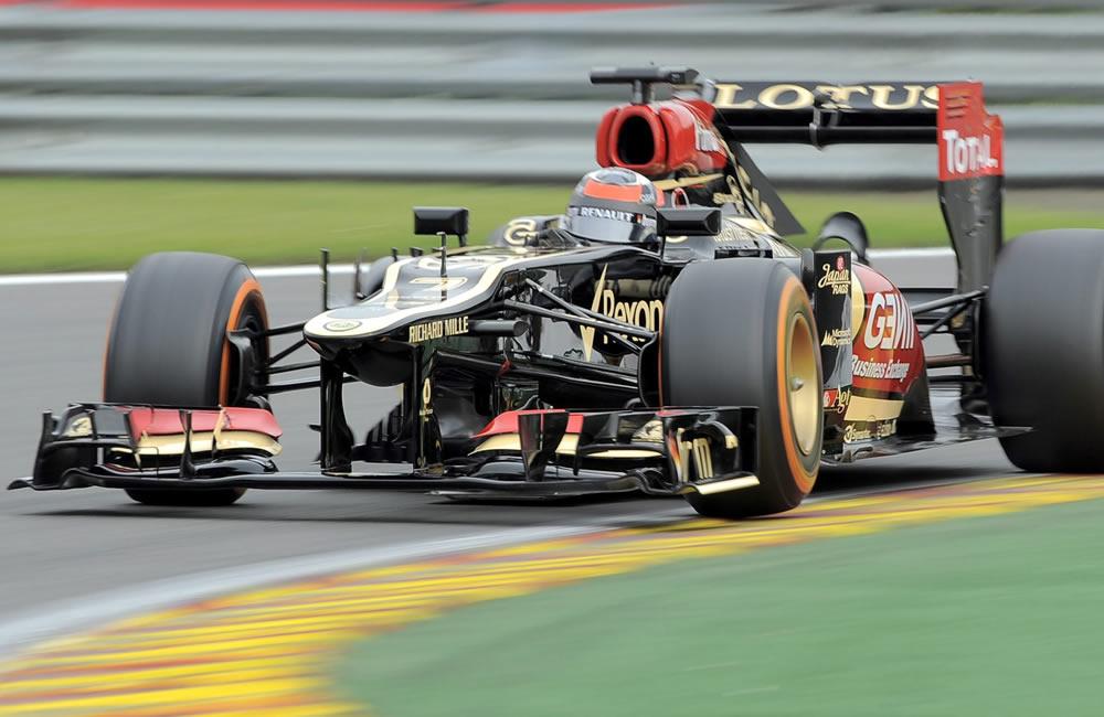 El piloto finlandés Kimi Raikkonen durante la clasificación del Gran Premio de Bélgica. EFE
