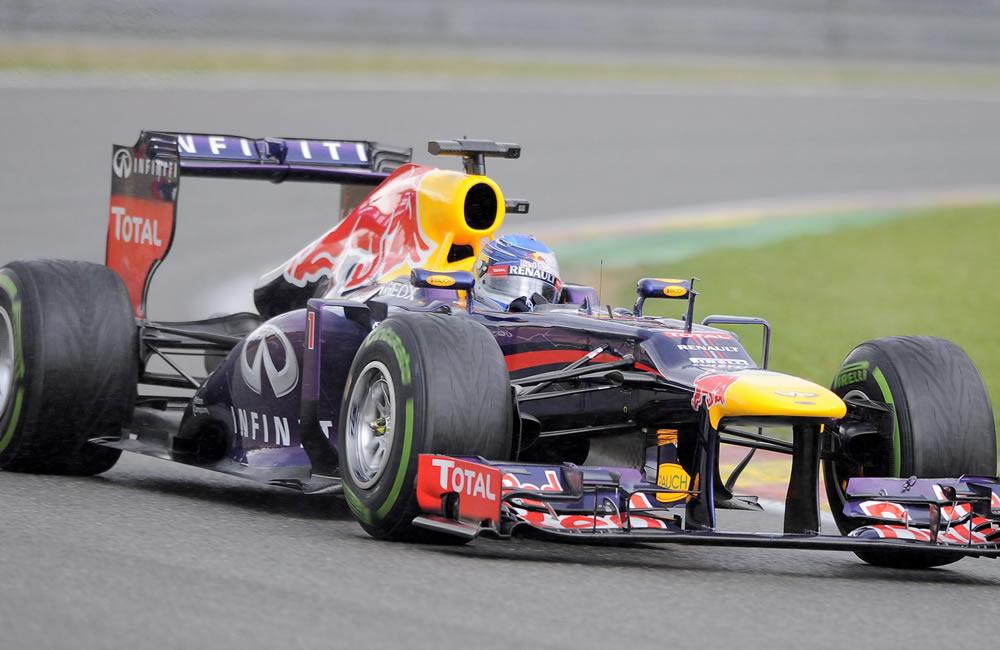 El piloto alemán Sebastián Vettel durante la clasificación del Gran Premio de Bélgica. EFE