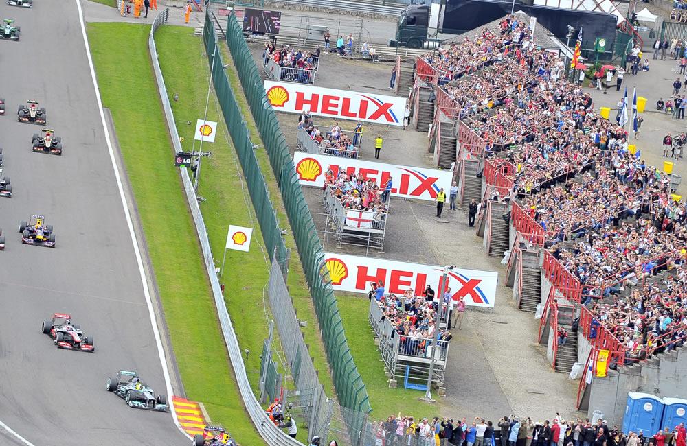 Pilotos de Fórmula 1 durante el Gran Premio de Bélgica. EFE
