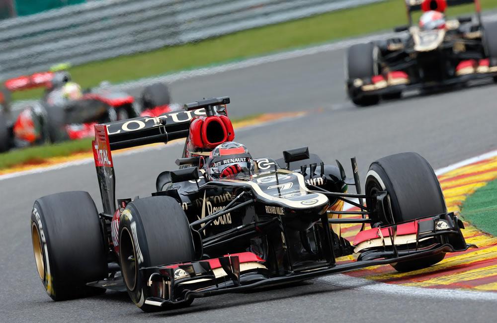 El piloto finlandés Kimi Raikkonen durante el Gran Premio de Bélgica. EFE