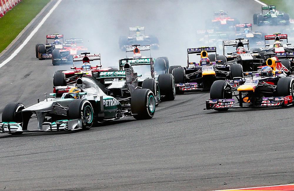 La grilla de salida del Gran Premio de Bélgica. EFE