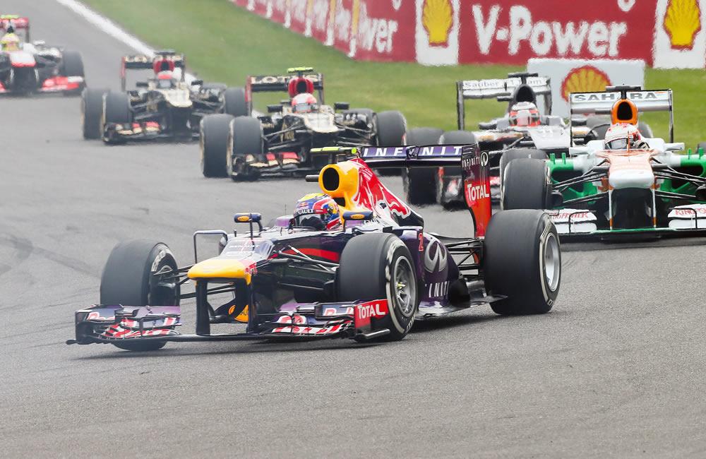 El piloto australiano Mark Webber durante el Gran Premio de Bélgica. EFE