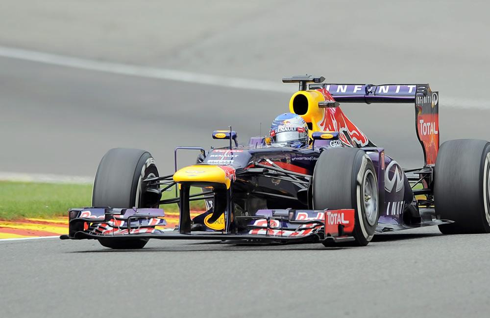 El piloto alemán Sebastián Vettel durante el Gran Premio de Bélgica. EFE
