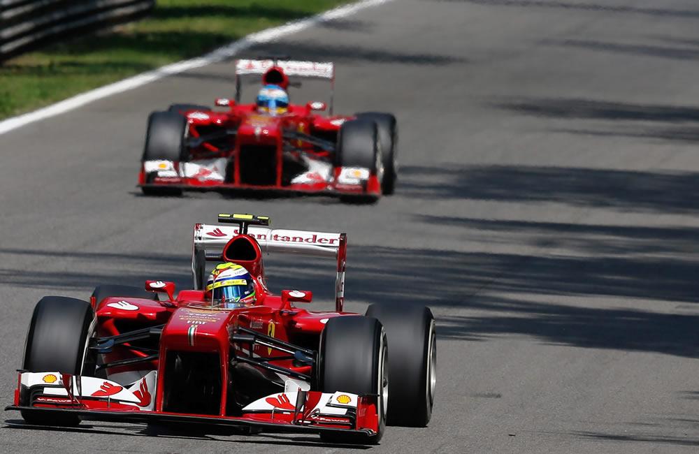 El piloto brasileño Felipe Massa durante la clasificación del Gran Premio de Italia. EFE