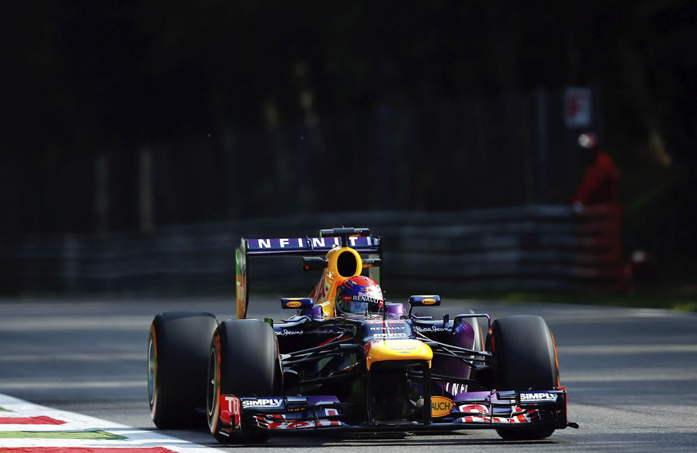 El piloto alemán Sebastián Vettel durante la clasificación del Gran Premio de Italia. EFE