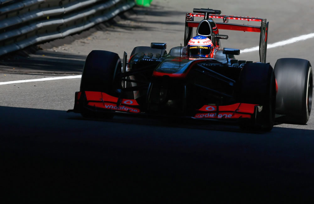 El piloto británico Jenson button durante la clasificación del Gran Premio de Italia. EFE