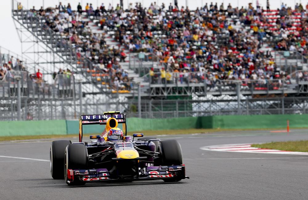El piloto australiano Mark Webber durante la clasificación del Gran Premio de Corea. EFE