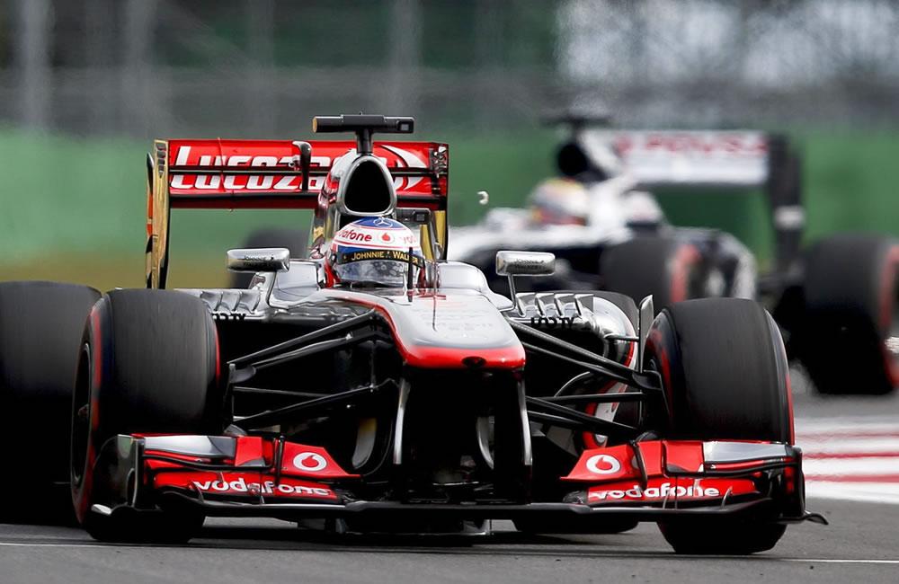 El piloto británico Jenson Button durante la clasificación del Gran Premio de Corea. EFE