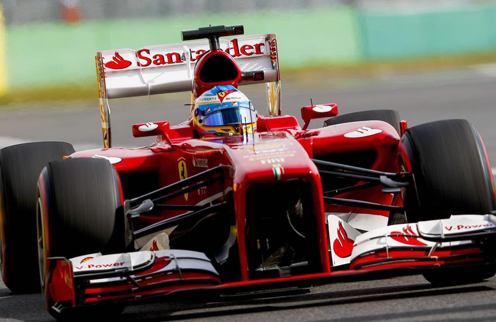 El piloto español Fernando Alonso durante la clasificación del Gran Premio de Corea. EFE