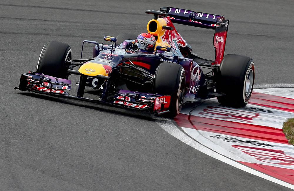 El piloto alemán Sebastián Vettel durante la clasificación del Gran Premio de Corea. EFE