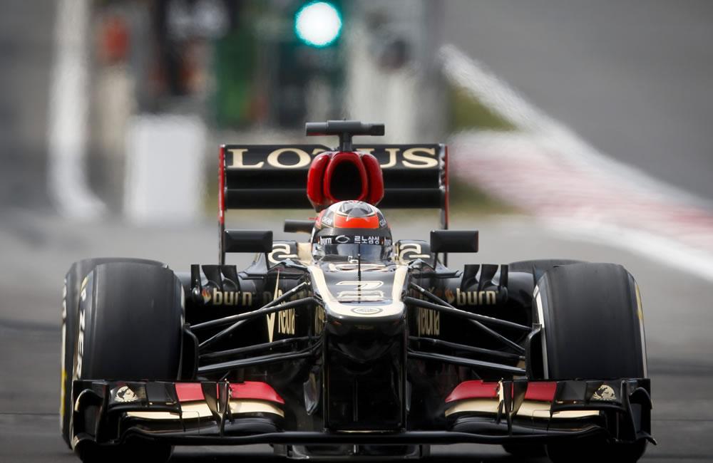 El piloto finlandés Kimmi Raikkonen durante la clasificación del Gran Premio de Corea. EFE