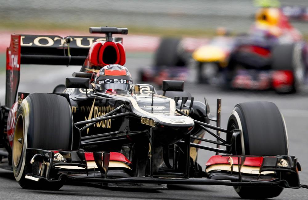 El piloto finlandés Kimmi Raikkonen durante el Gran Premio de Corea. EFE