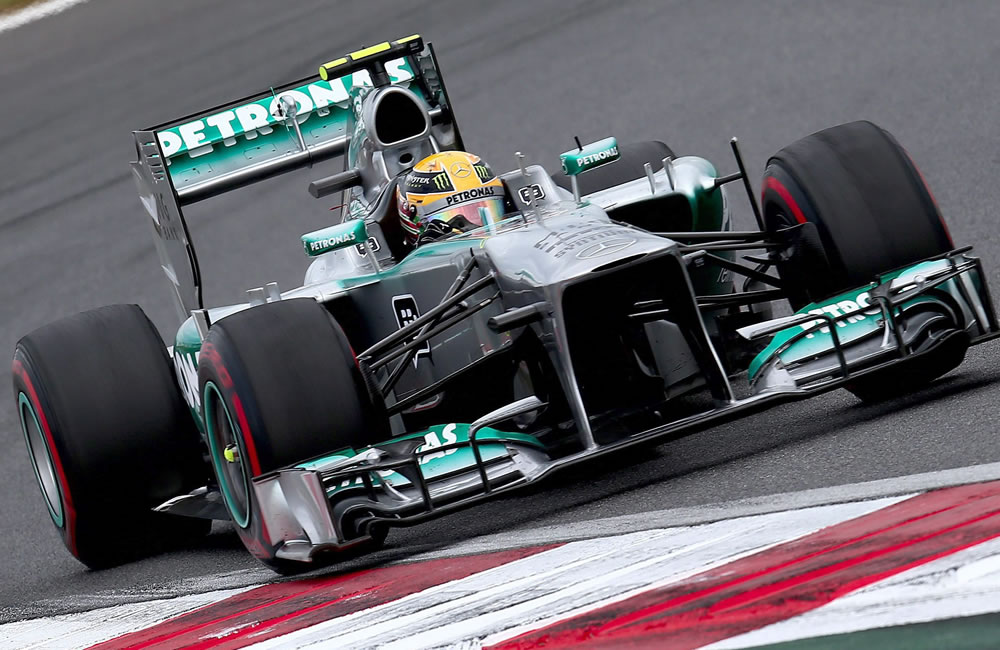 El piloto británico Lewis Hamilton durante el Gran Premio de Corea. EFE