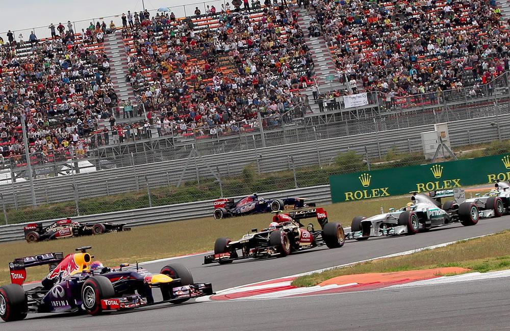 Pilotos durante el Gran Premio de Corea. EFE