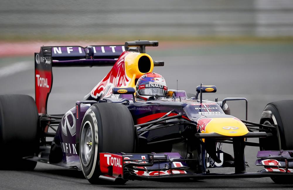 El piloto alemán Sebastián Vettel durante el Gran Premio de Corea. EFE