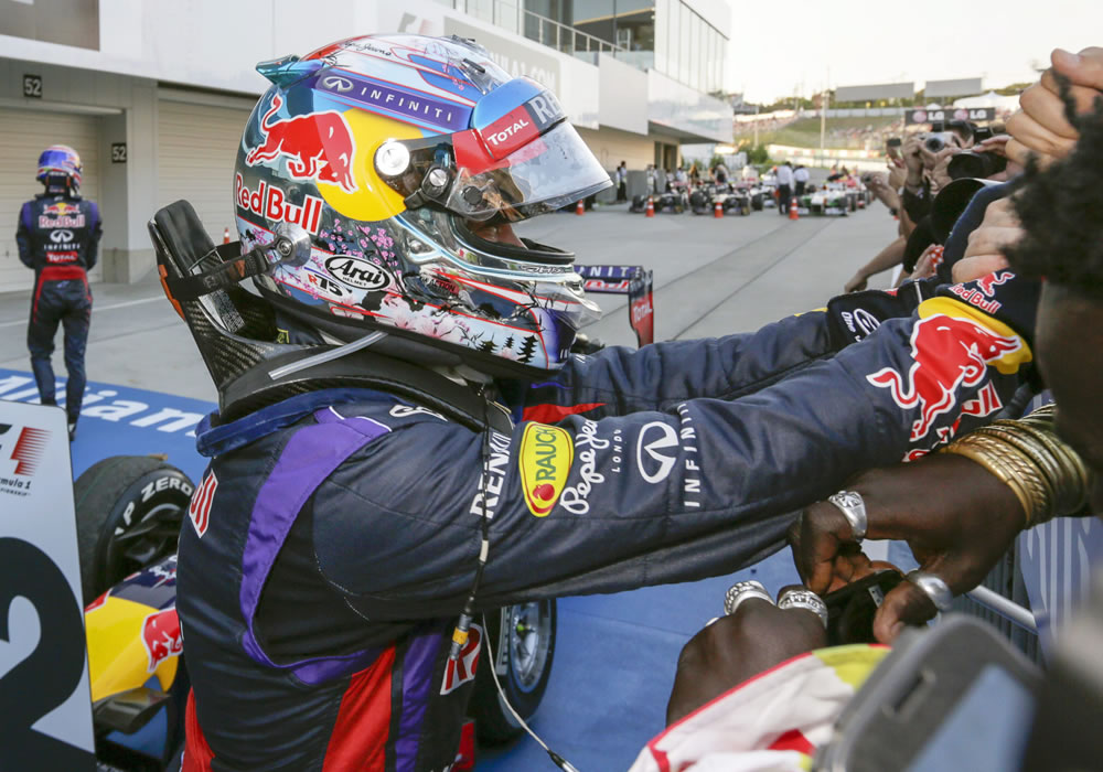 Vettel ganó de nuevo en Suzuka, pero Alonso aplazó sus festejos