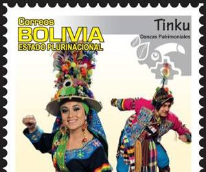 Sellos postales con danzas típicas de Bolivia circulan por el mundo