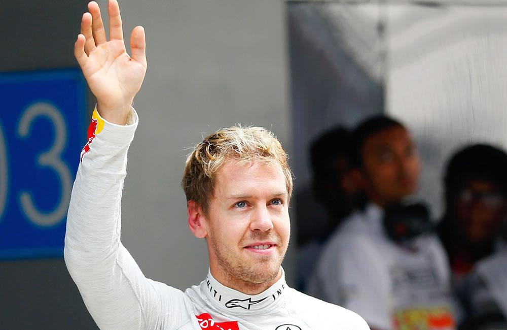 El piloto alemán Sebastián Vettel se llevo la 'pole' del Gran Premio de la India. EFE