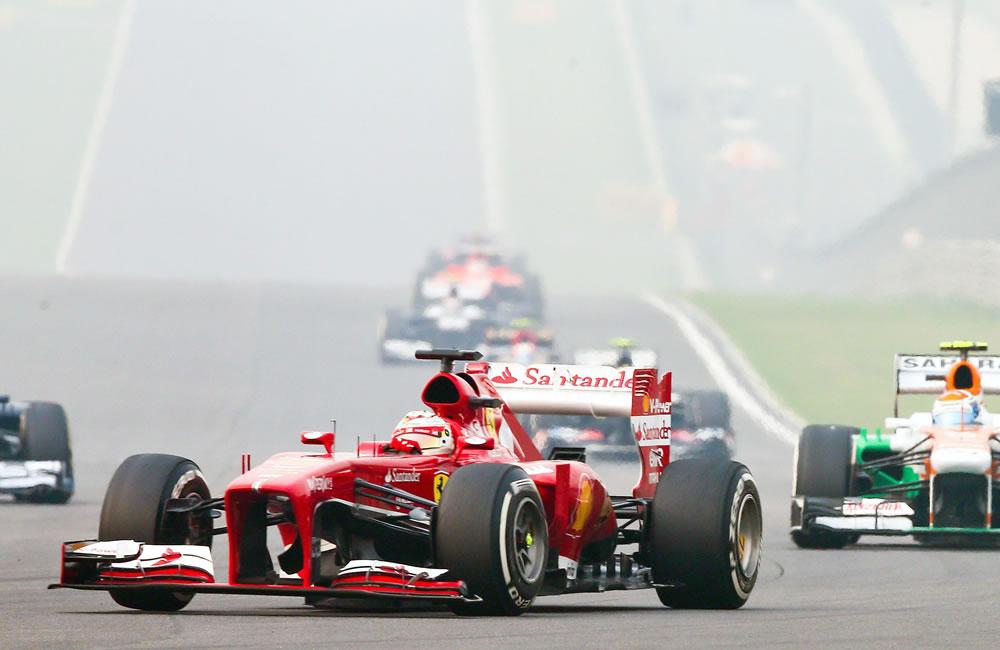El piloto español Fernando Alonso durante el Gran Premio de Japón. EFE