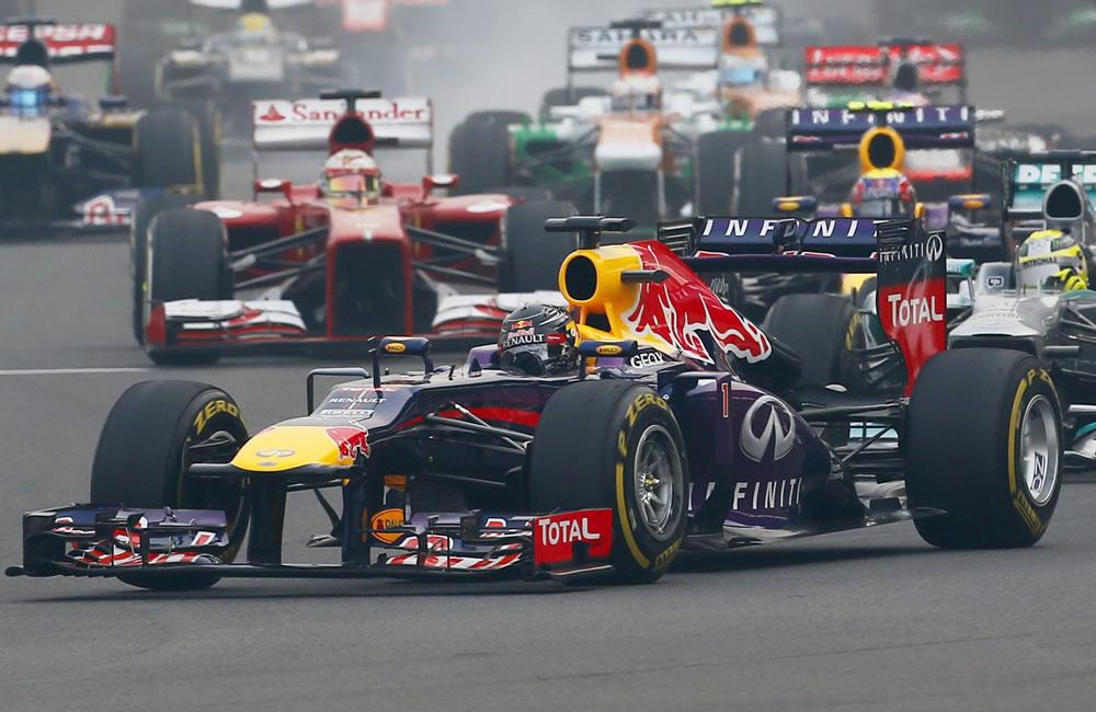 Grilla de salida del Gran Premio de la India. EFE