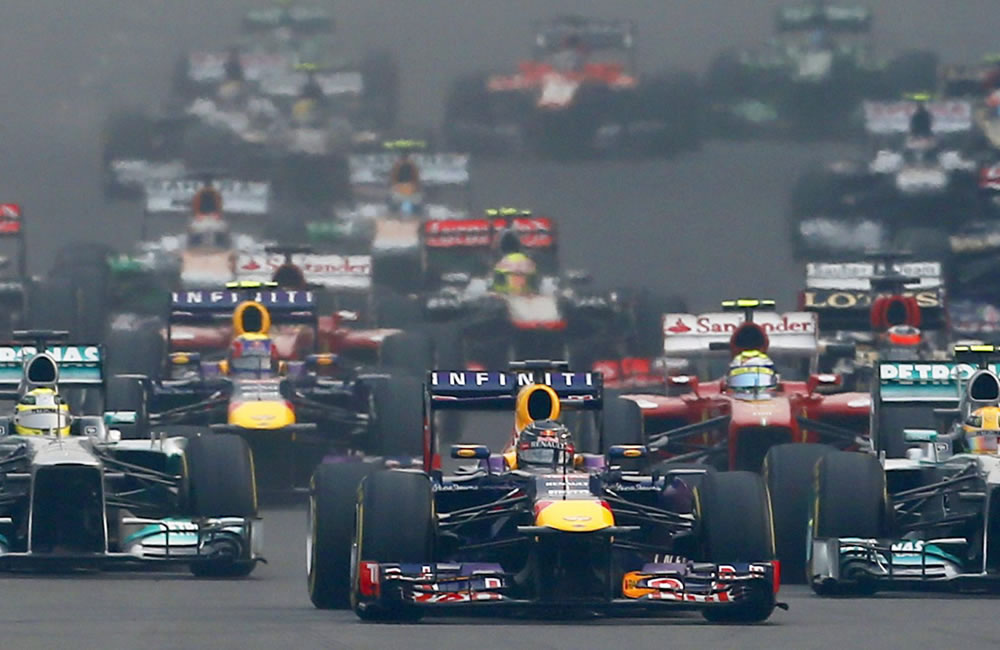 Pilotos durante el Gran Premio de la India. EFE