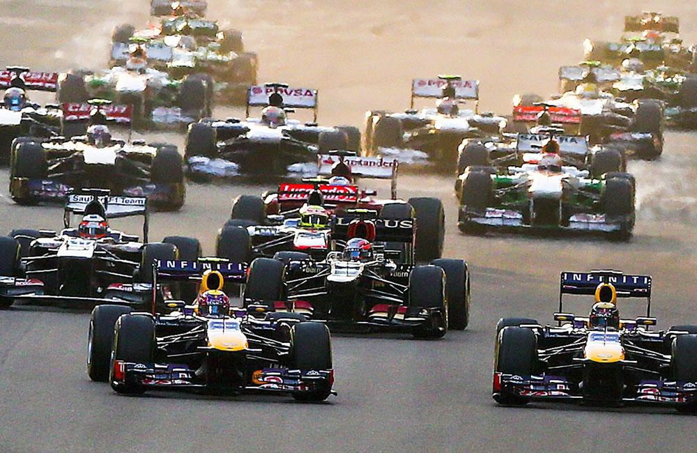 Pilotos durante el Gran Premio de Abu Dabi. EFE