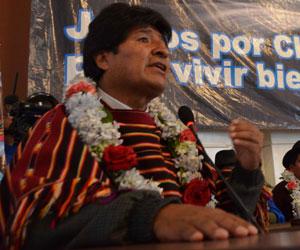 Morales califica de 'récord histórico' crecimiento en 2013