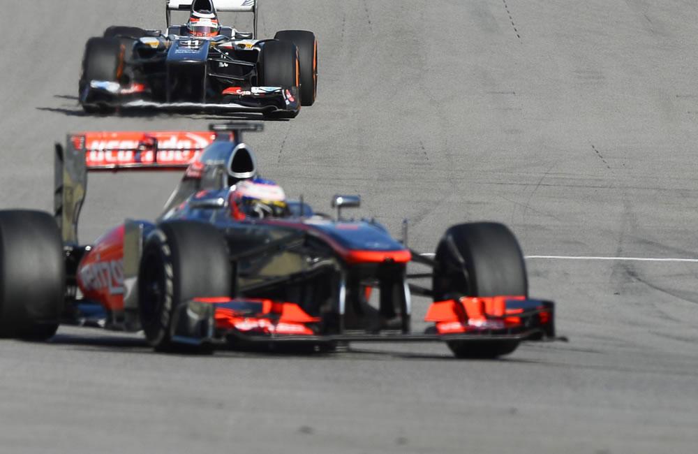 El piloto alemán Nico Hulkenberg durante la clasificación del Gran Premio de Estados Unidos. EFE
