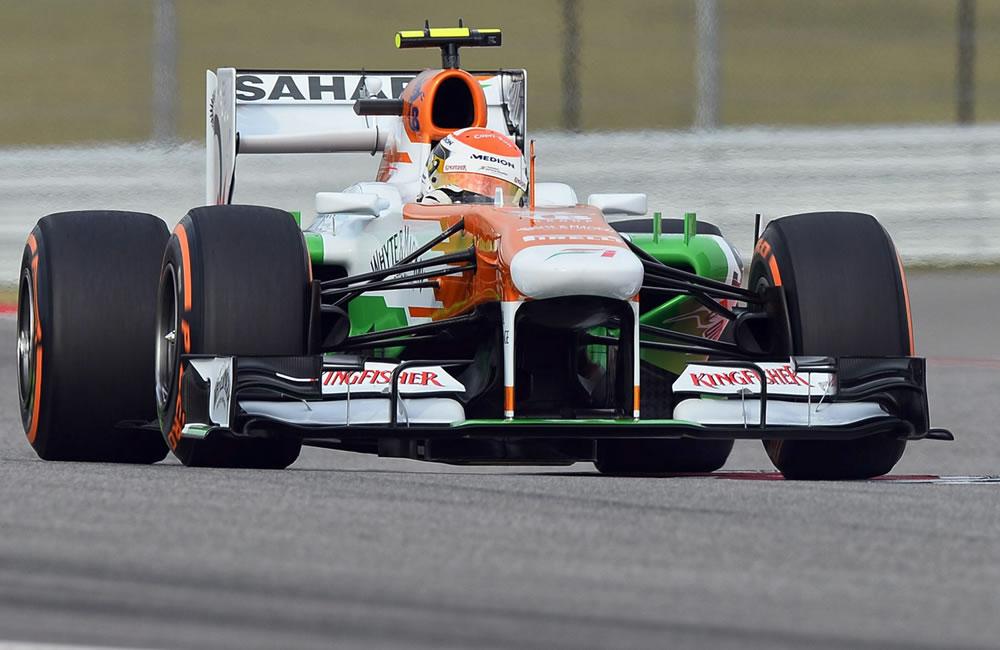 El piloto alemán  Adrian Sutil durante la clasificación del Gran Premio de Estados Unidos. EFE