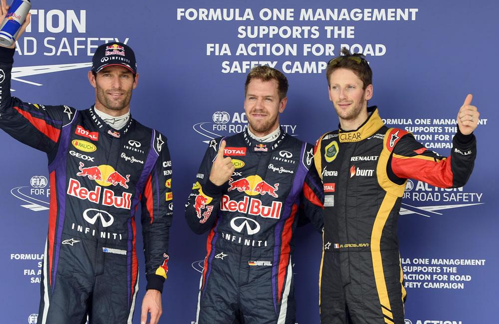 El podio de clasificación del Gran Premio de Estados Unidos. EFE