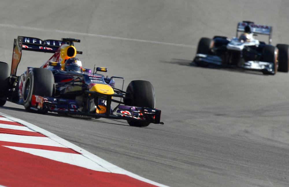El piloto alemán Sebastián Vettel durante la clasificación del Gran Premio de Estados Unidos. EFE