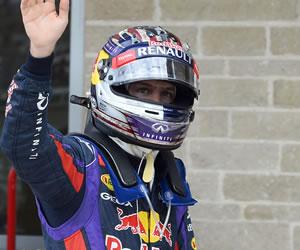 El piloto alemán Sebastian Vettel ganador de la pole del Gran Premio de Estados Unidos. EFE