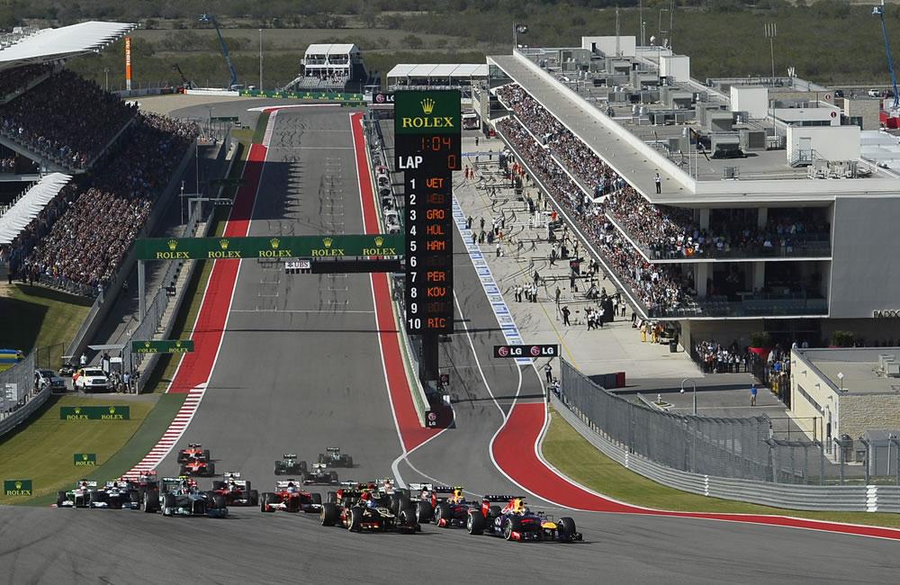 Pilotos durante el Gran Premio de los Estados Unidos. EFE