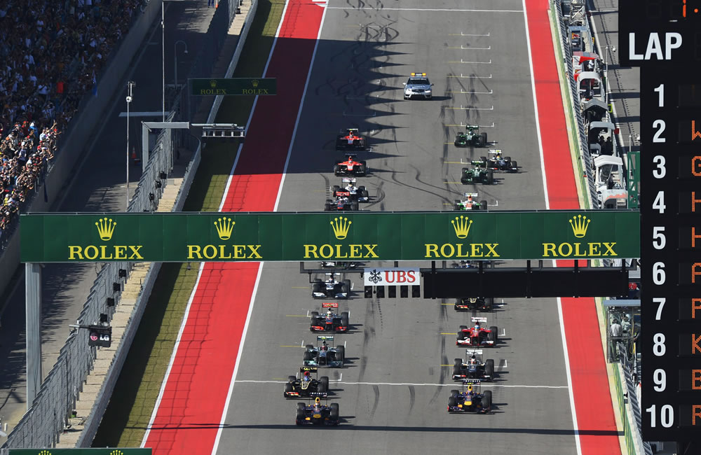 La grilla de partida del Gran Premio de los Estados Unidos. EFE