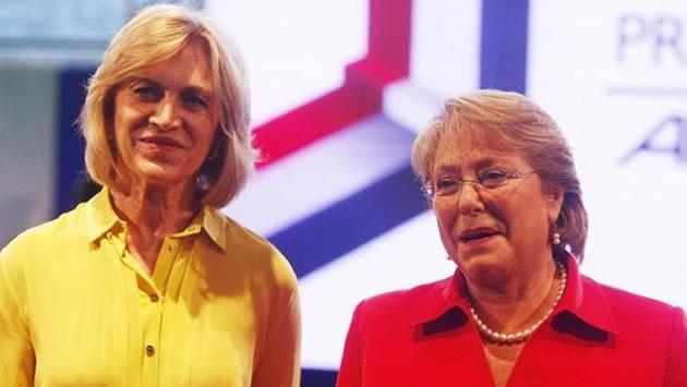 Michelle Bachelet y Evelyn Matthei. EFE