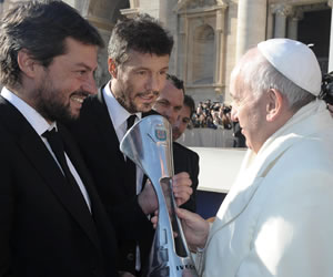 Francisco llamó 'locos' a los jugadores de San Lorenzo por regalarle la copa