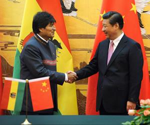 Morales dice que China respalda el G77 en Bolivia