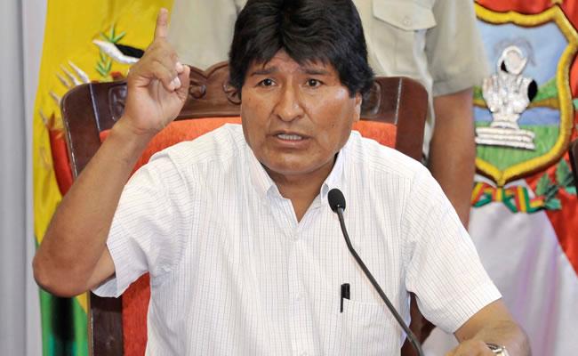 Presidente Evo Morales. Foto: ABI