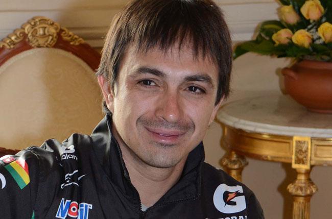 Juan Carlos Salvatierra, piloto boliviano de motociclismo. Foto: ABI