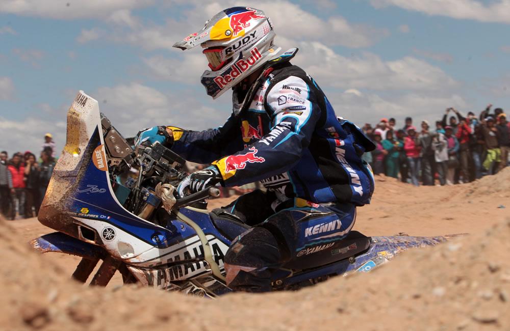 Despres gana octava etapa del Dakar en motos por delante de Barreda y Coma