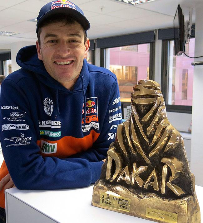Marc Coma destaca su victoria en el Dakar 2014