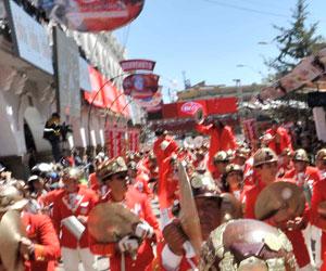 Accidente en la entrada del Carnaval de Oruro