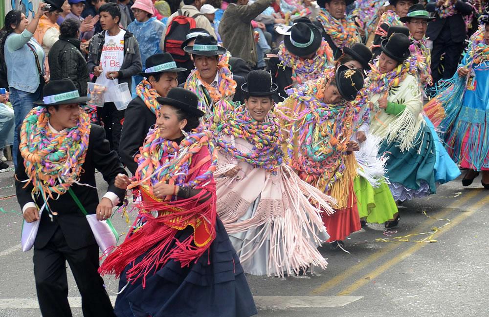Al menos 47 conjuntos folklóricos animaron XX versión del Jisk`a Anata en La Paz. ABI
