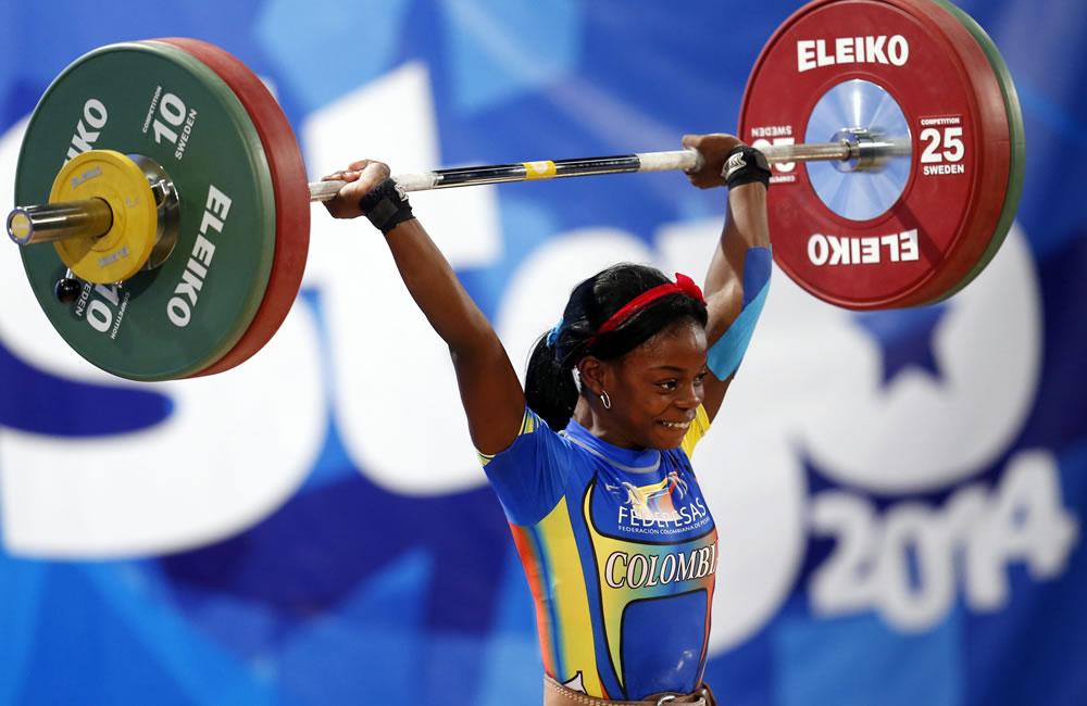 Colombia arrasó con los oros en el levantamiento de pesas