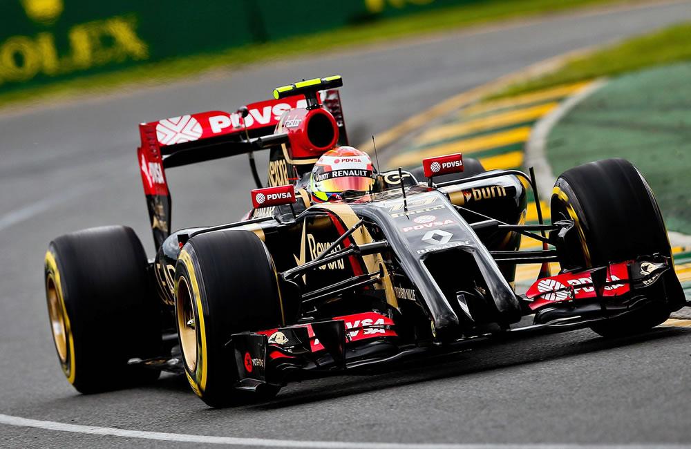 El piloto venezolano Pastor Maldonado durante la preclasificación del Gran Premio de Australia. Foto: EFE