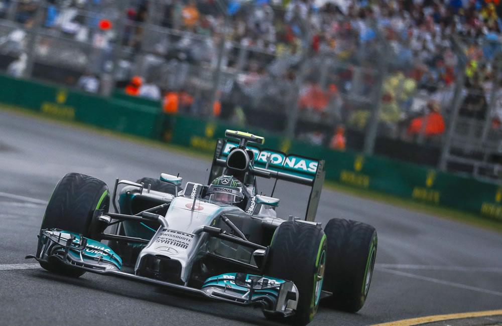 El piloto alemán Nico Rosberg durante la preclasifcación del Gran Premio de Australia. Foto: EFE