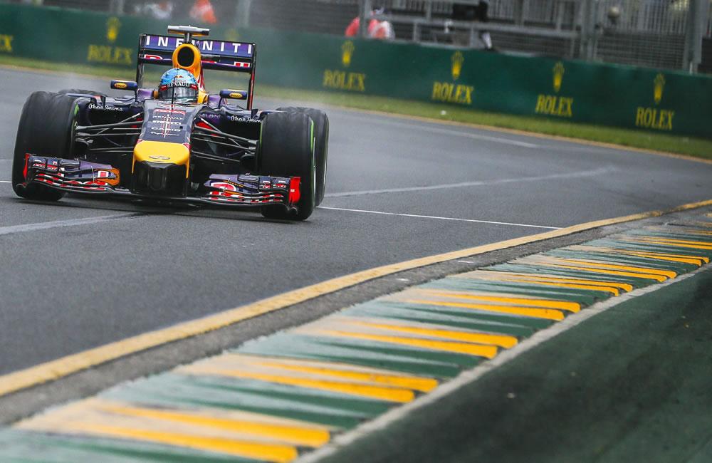 El piloto alemán Sebastián Vettel durante la preclasificación del Gran Premio de Australia. Foto: EFE