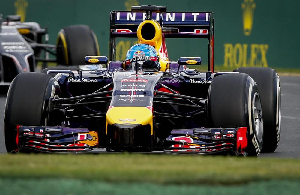 El piloto alemán Sebastián Vettel durante el Gran Premio de Australia. Foto: EFE