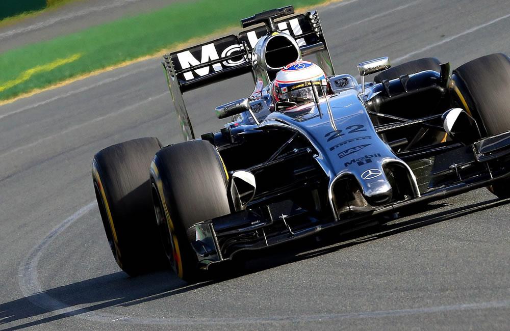 El piloto británico Jenson Button durante el Gran Premio de Australia. Foto: EFE
